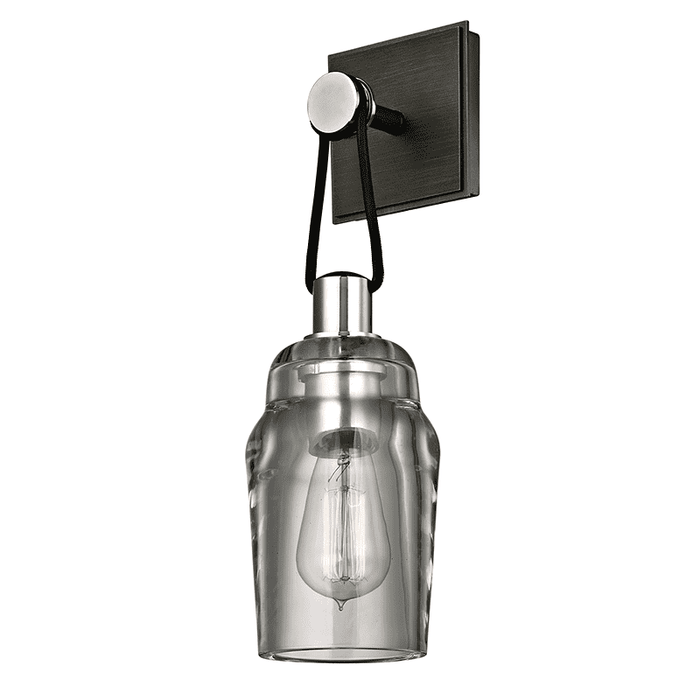 Citizen 1Lt Wall Sconce Graphite And Polished Nickel