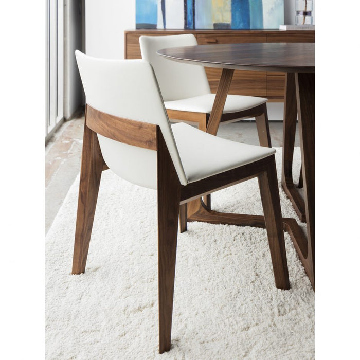 DECO DINING CHAIR WHITE PVC- SET OF 2