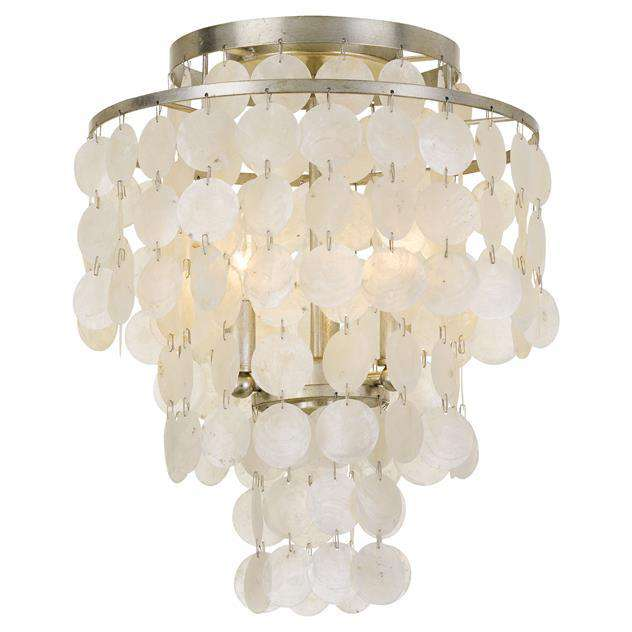 Brielle 3 Light Antique Silver Ceiling Mount
