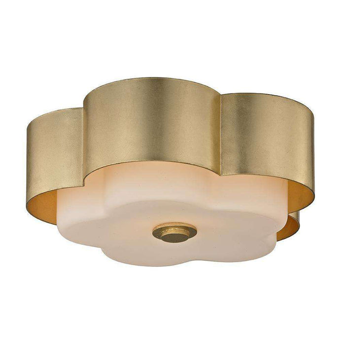 Allure 1Lt Ceiling Flush Gold Leaf