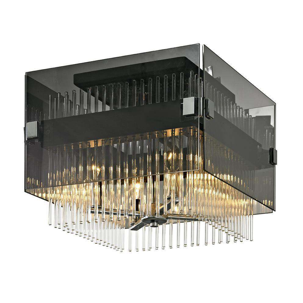 Apollo 4Lt Ceiling Semi-Flush Dark Bronze Polished Chrome