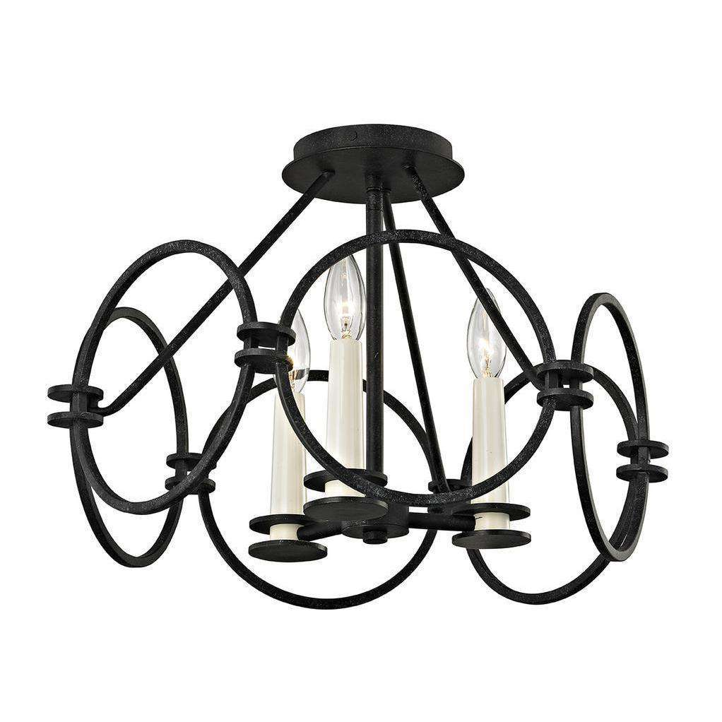 Juliette 3Lt Ceiling Semi-Flush Country Iron