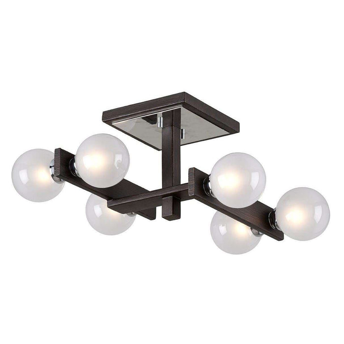 Network 6Lt Ceiling Semi-Flush Forest Bronze And Polished Chrome
