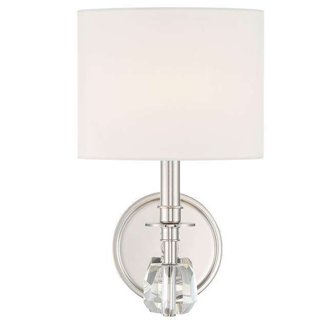 Chimes 1 Light Polished Nickel Sconce