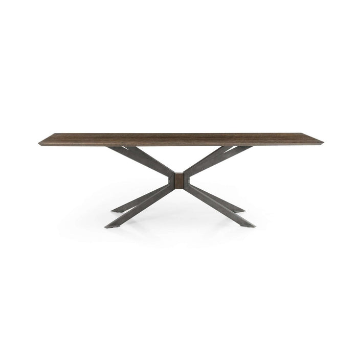 Spider Dining Table - English Brown Oak