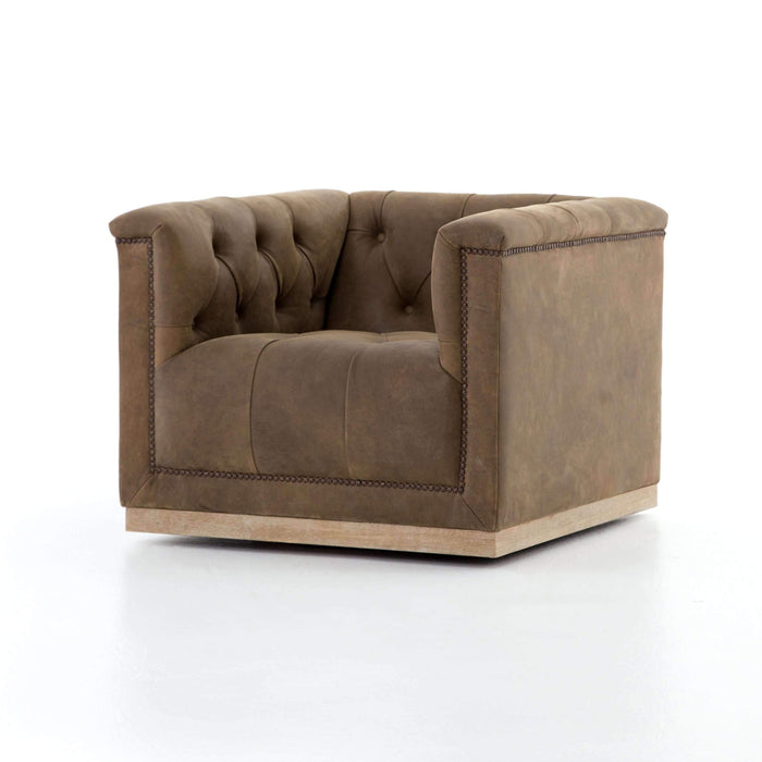 Nexus Tufted Swivel Chair