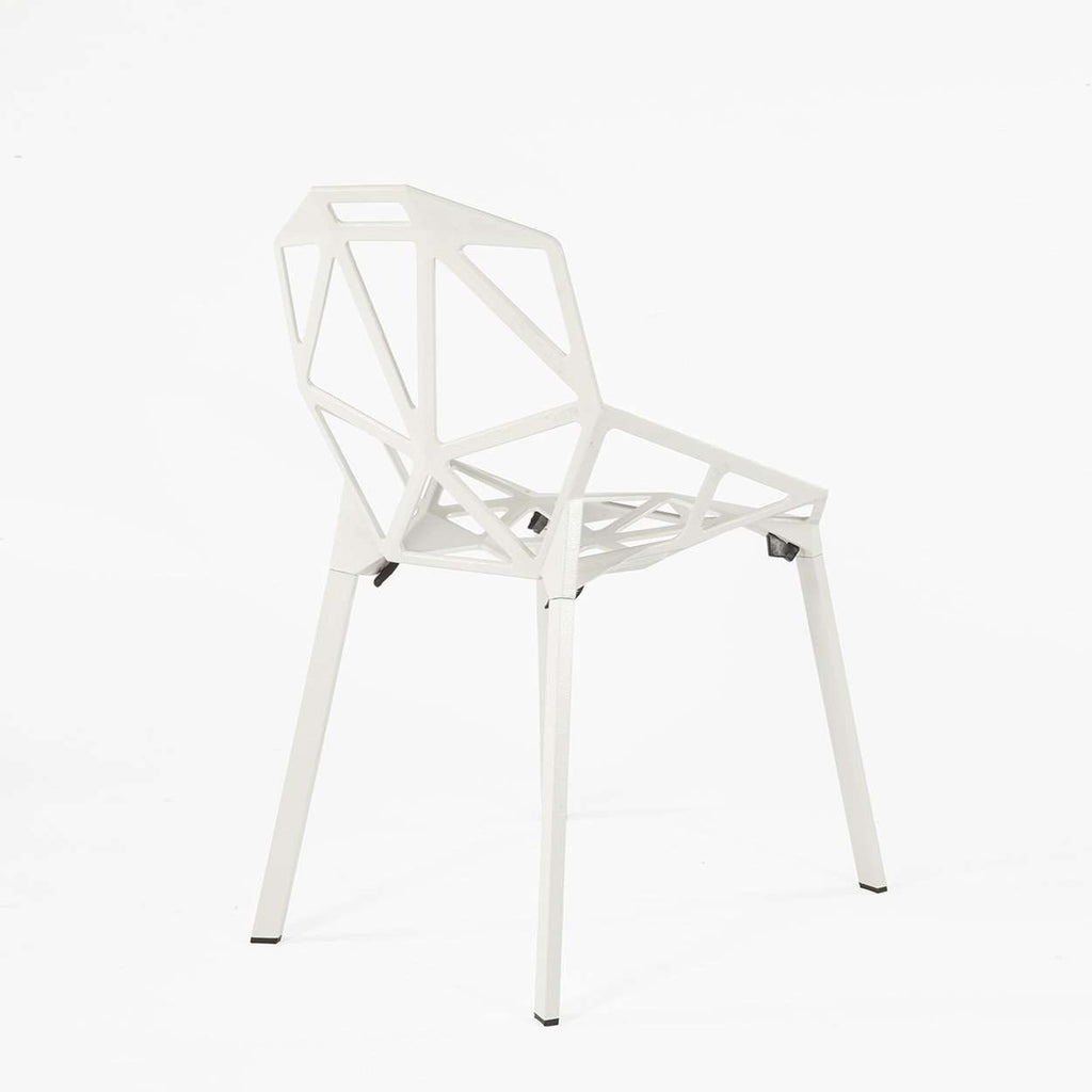 Custom Chair One Stacking Side Chair - White