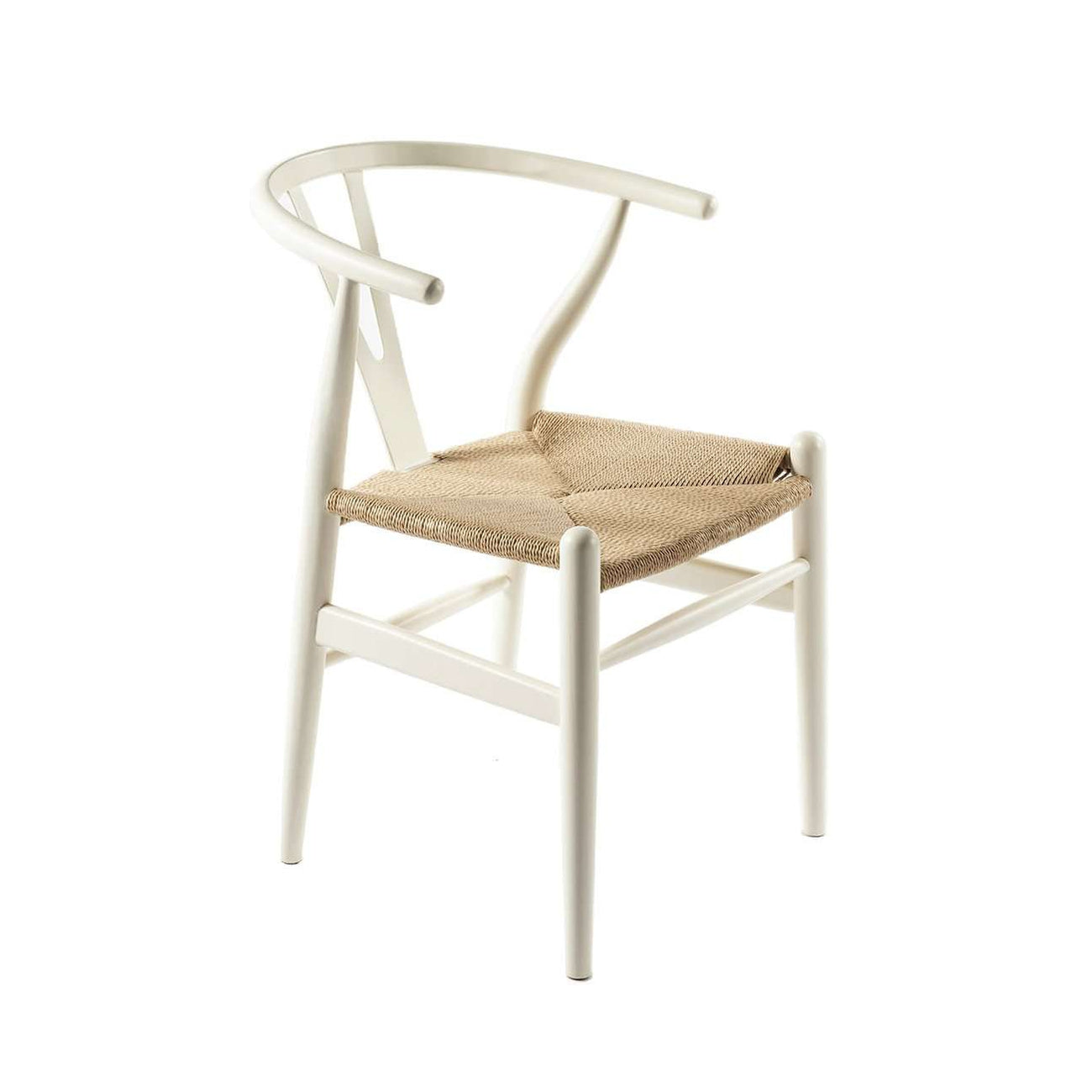 Mid Century Modern Reproduction Ch24 Wishbone Y Chair White