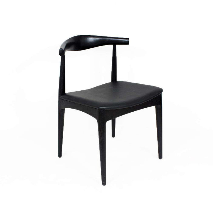 Mid Century Elbow Chair - Black