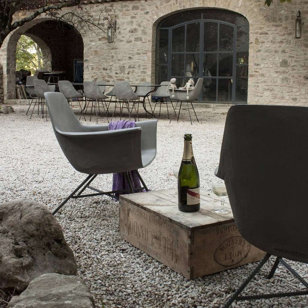 Hauteville Low Armchair by Lyon Beton