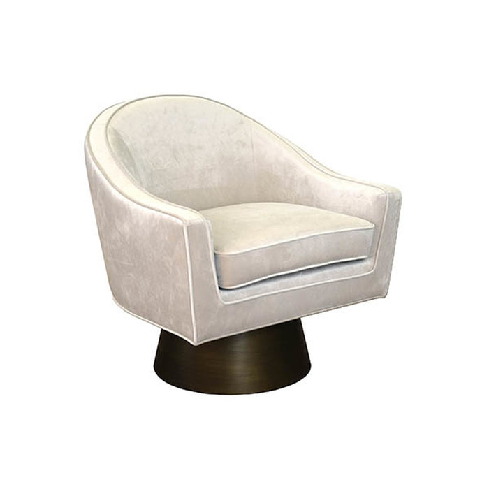 Dominic Modern Swivel Chair With Bronze Base France Son