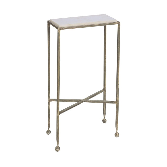 Chino Side Table with Marble Top