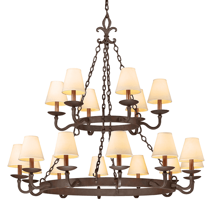 Lyon 18Lt Chandelier 2 Tier Burnt Sienna