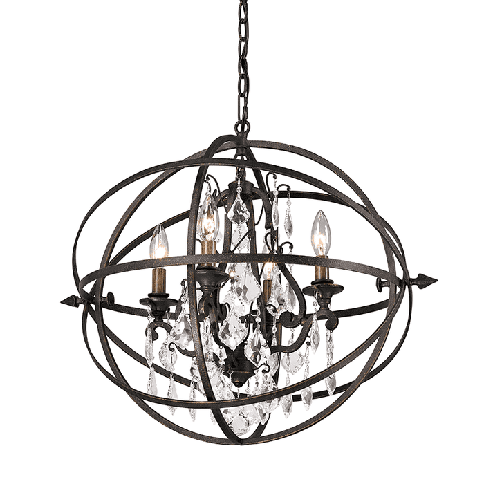 Byron 4Lt Chandelier Medium Vintage Bronze