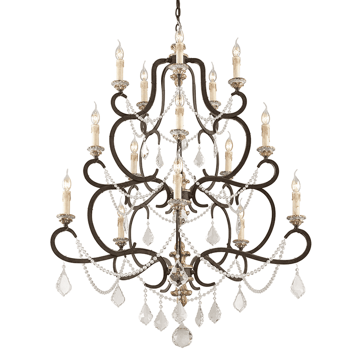 Bordeaux 15Lt Chandelier Large Parisian Bronze