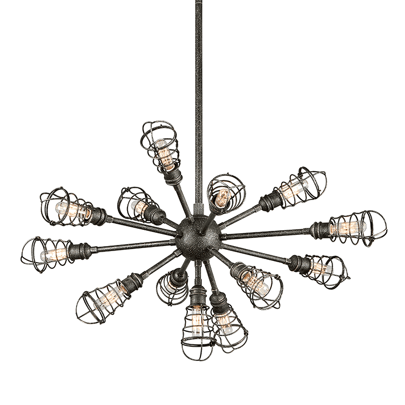 Conduit 13Lt Chandelier Large Old Silver