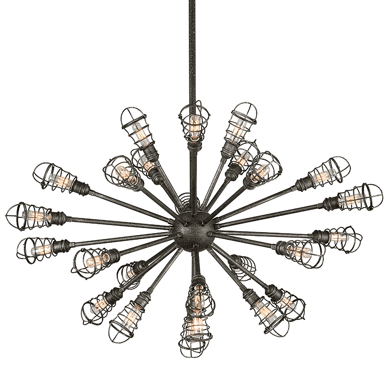 Conduit 25Lt Chandelier Extra Large Old Silver