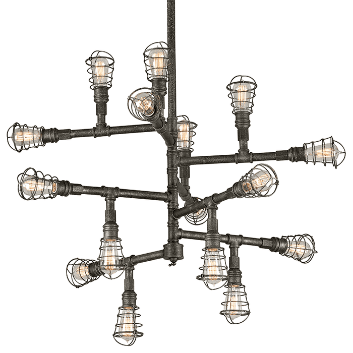 Conduit 16Lt Chandelier Extra Large Old Silver
