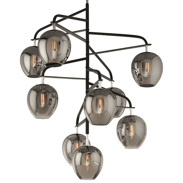 Odyssey 9Lt Pendant Entry Extra Large Carbide Black And Polished Nickel