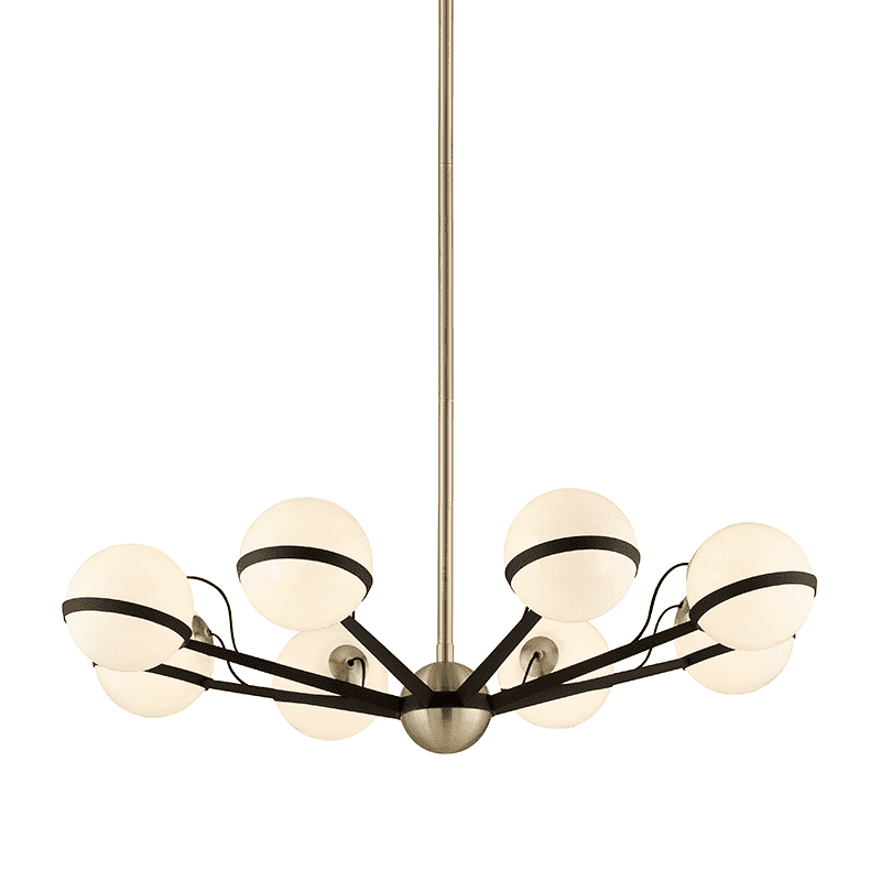 Ace 8Lt Chandelier Medium Textured Bronze And Brushed Brass