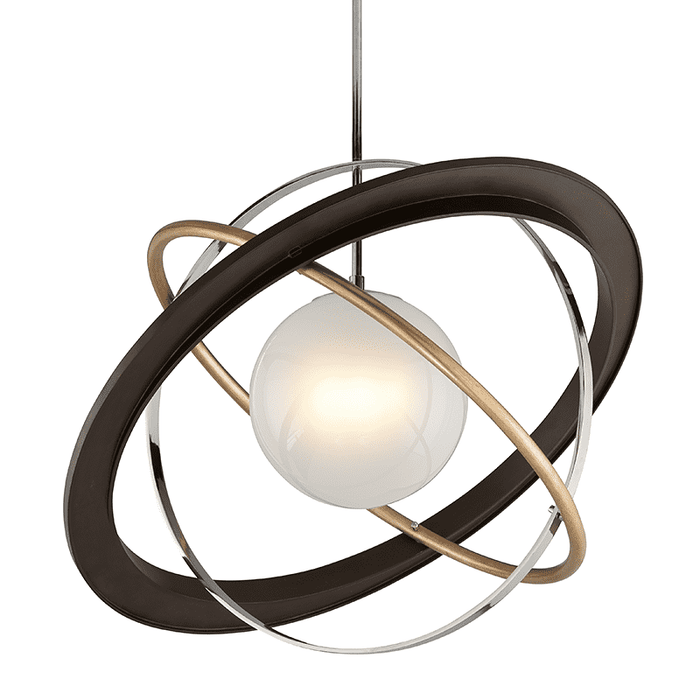 Apogee 1Lt Pendant Extra Large Bronze W/ Gold Leaf And Polished Stainless