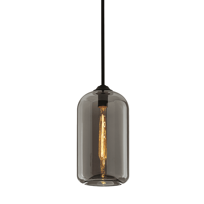 District 1Lt Pendant Small Satin Black