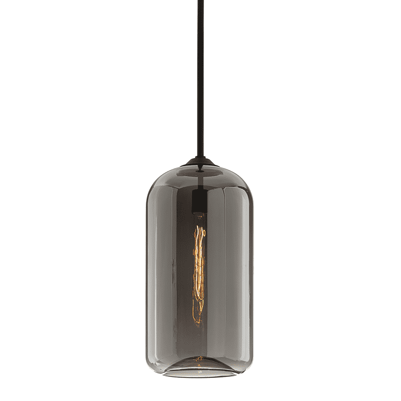 District 1Lt Pendant Large Satin Black