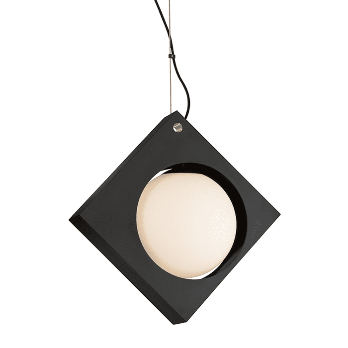 Conundrum 1Lt Pendant Medium Textured Black
