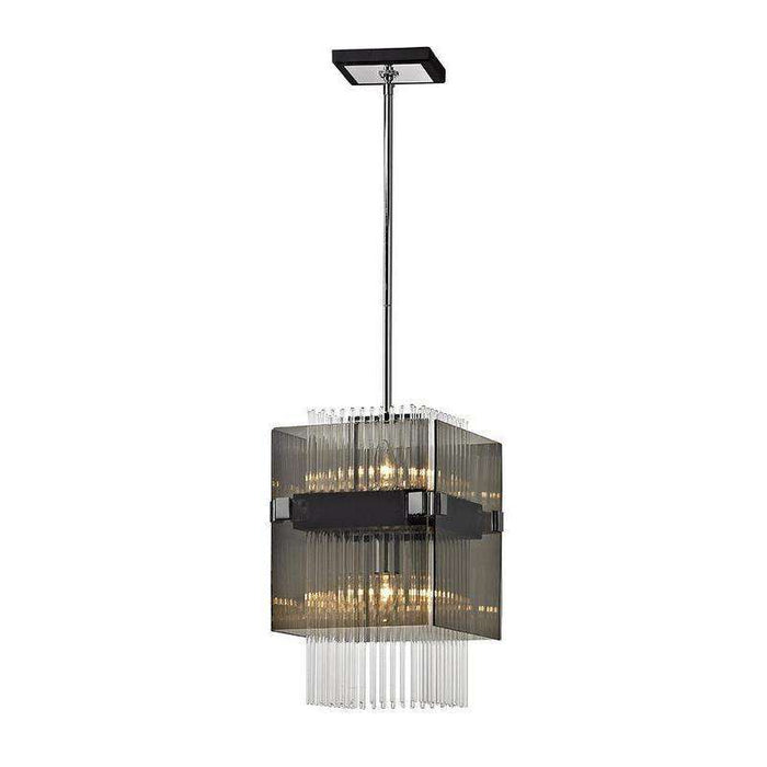 Apollo 2Lt Pendant Mini Dark Bronze Polished Chrome