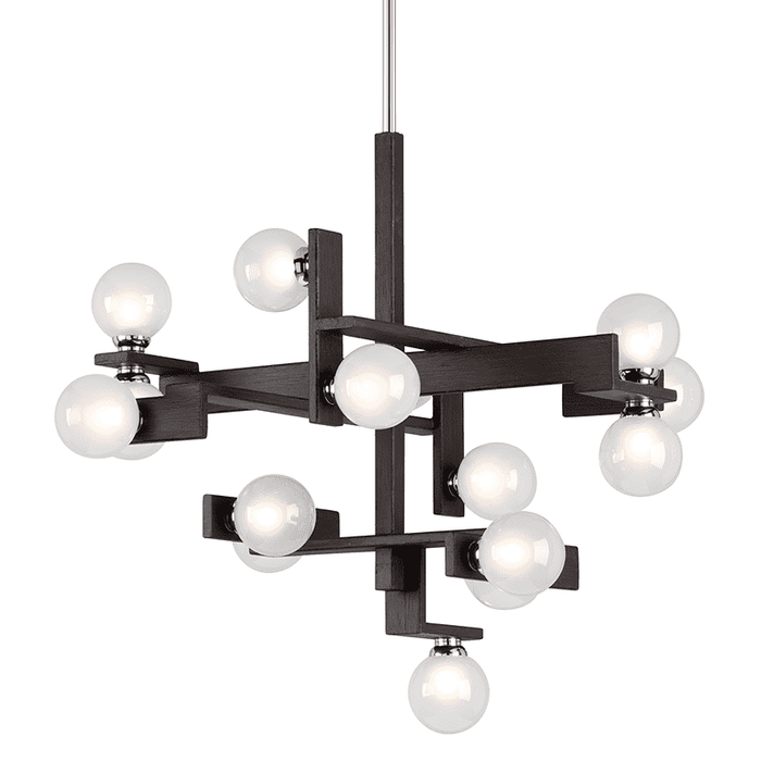 Network 15Lt Pendant Dining Forest Bronze And Polished Chrome