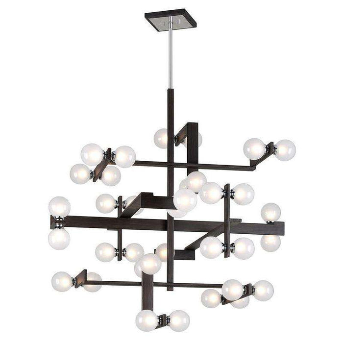 Network 36Lt Pendant Entry Forest Bronze And Polished Chrome