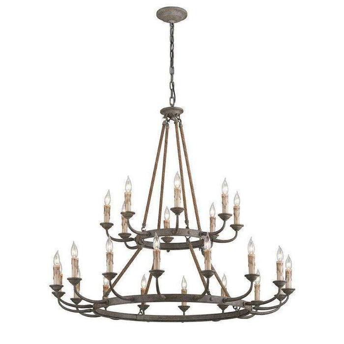 Cyrano 24Lt Chandelier Earthen Bronze