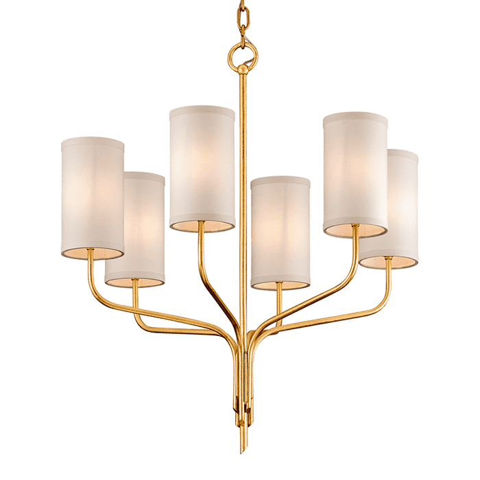 Juniper 6Lt Chandelier Gold Leaf