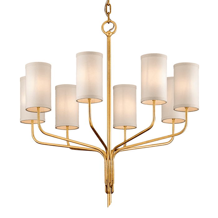 Juniper 8Lt Chandelier Gold Leaf