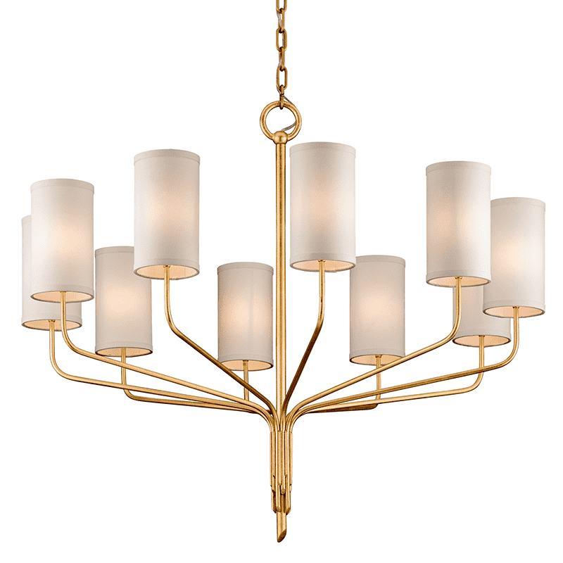 Juniper 10Lt Chandelier Gold Leaf