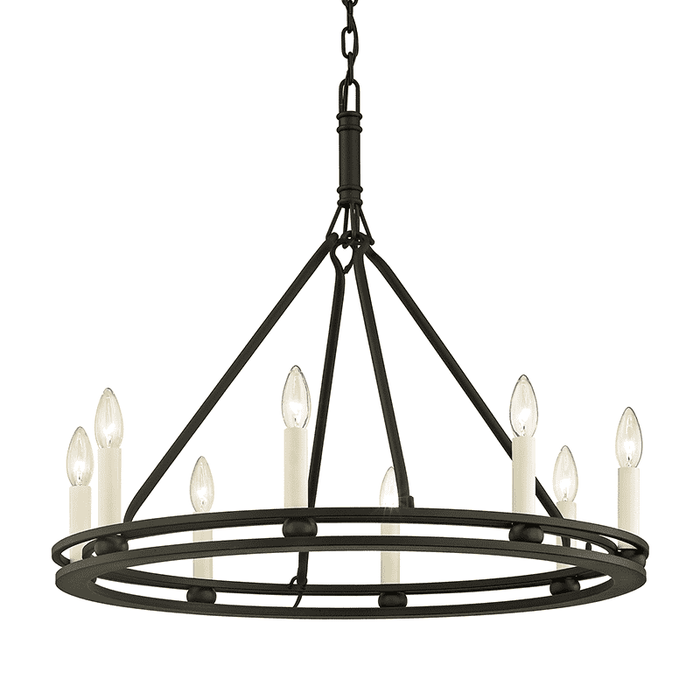Sutton 8Lt Chandelier Black