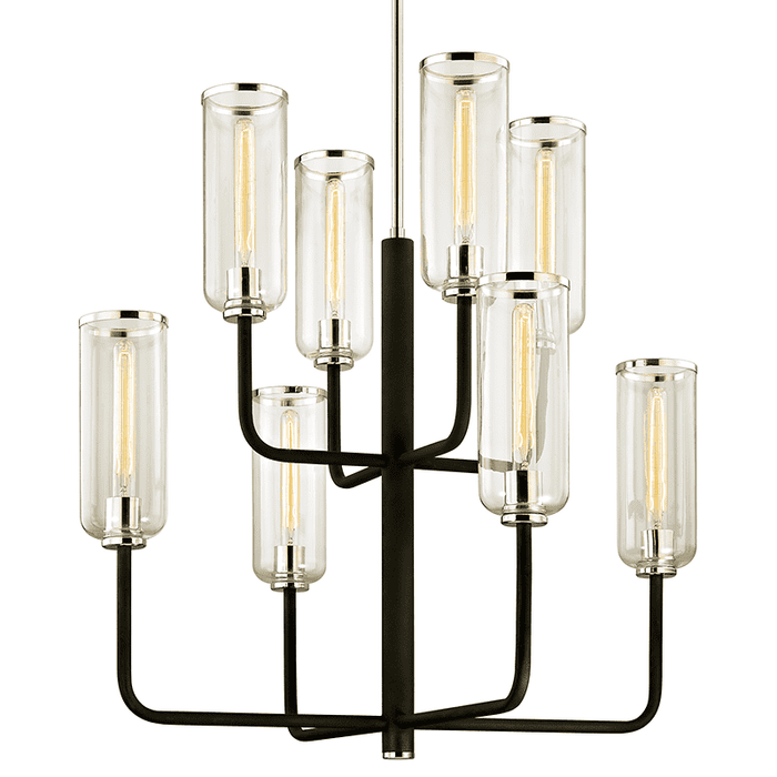 Aeon 8Lt Chandelier Carbide Black Polished Nickel