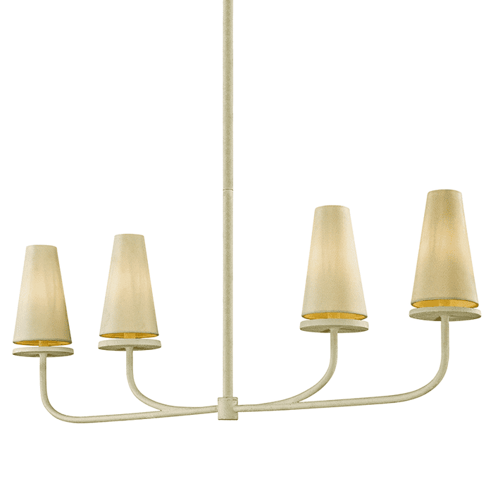 Marcel 4Lt Linear Chandelier White