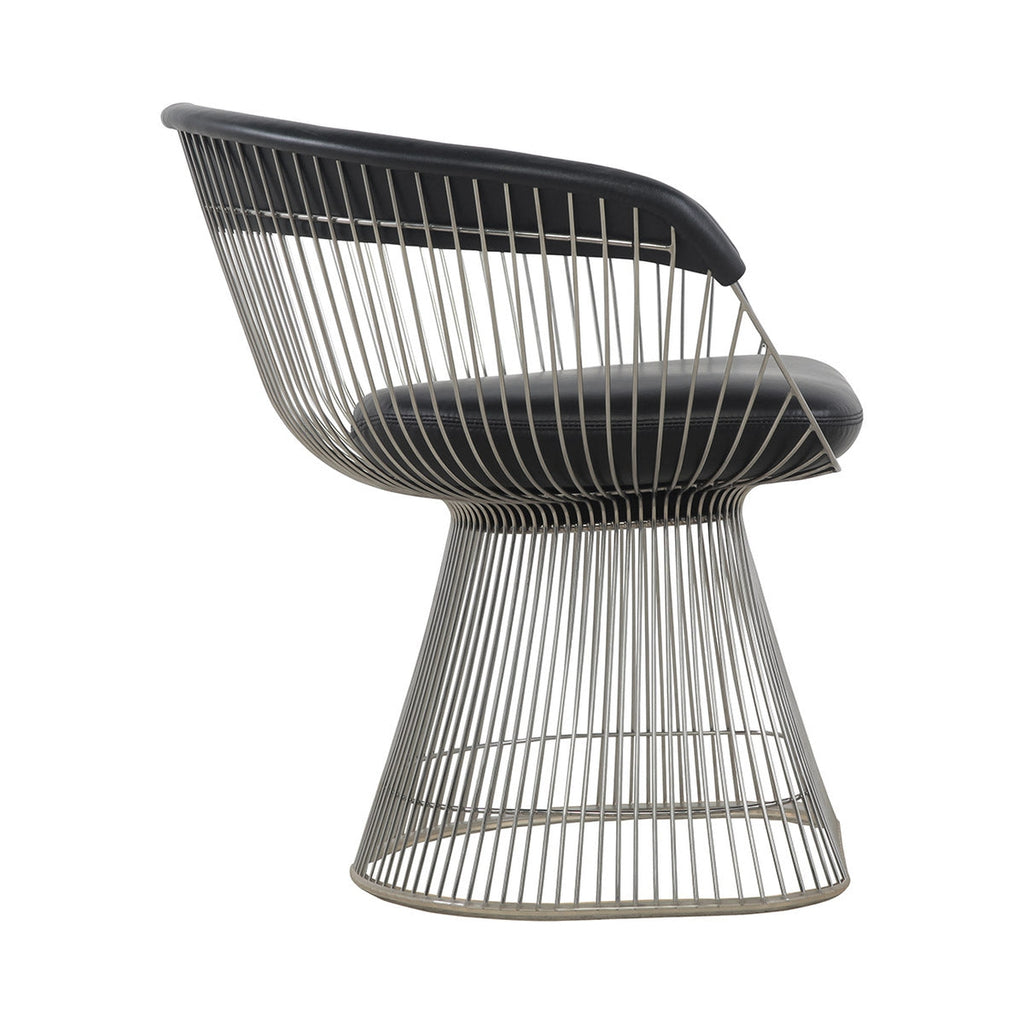 Admirable Platner Arm Chair With Black Leather Gamerscity Chair Design For Home Gamerscityorg