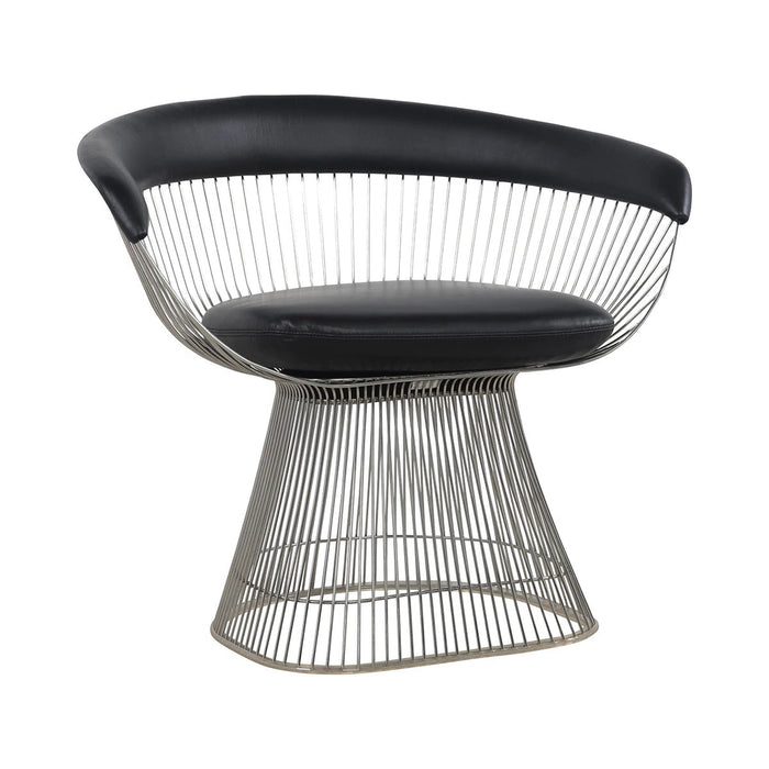 Platner Arm Chair with Top Grain Leather