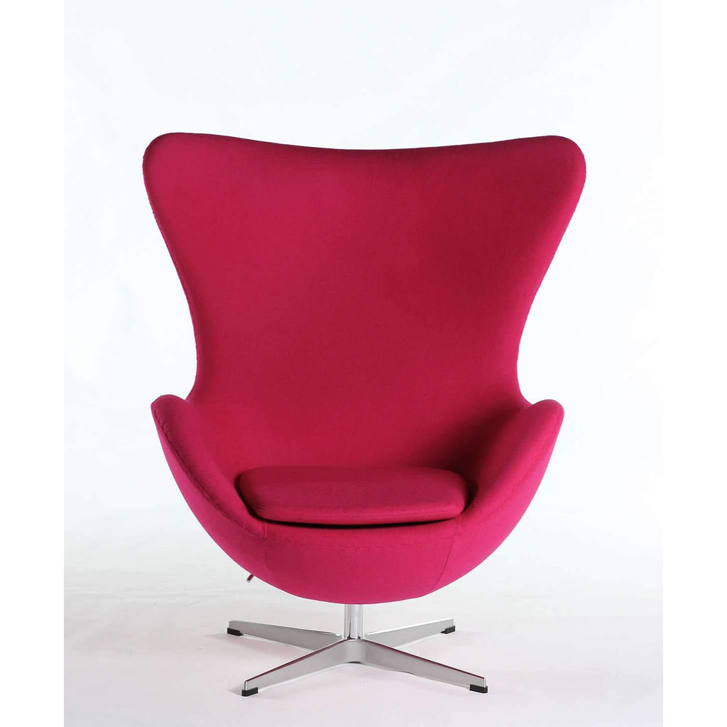 Superieur Mid Century Egg Chair   Rose [staff Pick] Free Shipping
