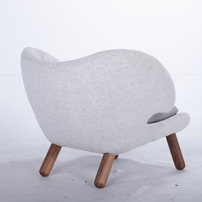 Mid Century Tufted Pelican Chair - Grey