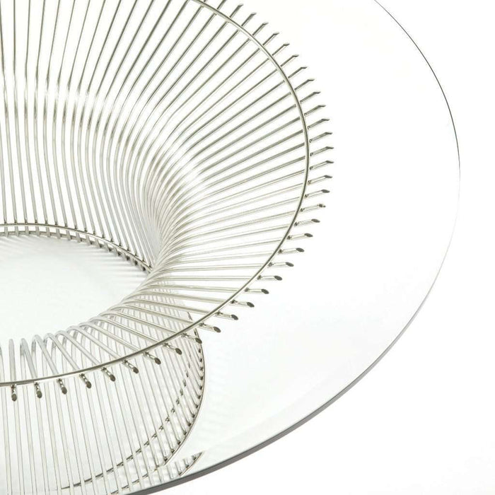 Mid Century Platner Coffee Table - Polished Steel