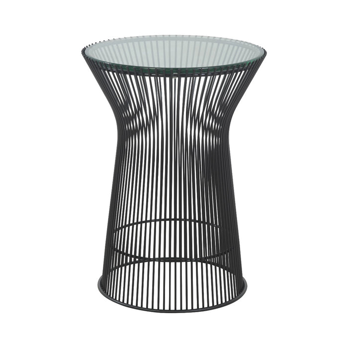 Mid Century Platner Glass Side Table - Jet Black