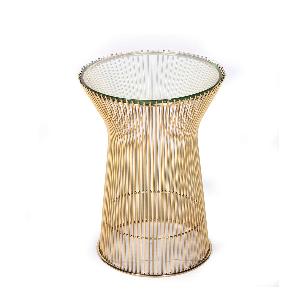 Platner Glass Side Table   Gold [staff Pick] Free Shipping