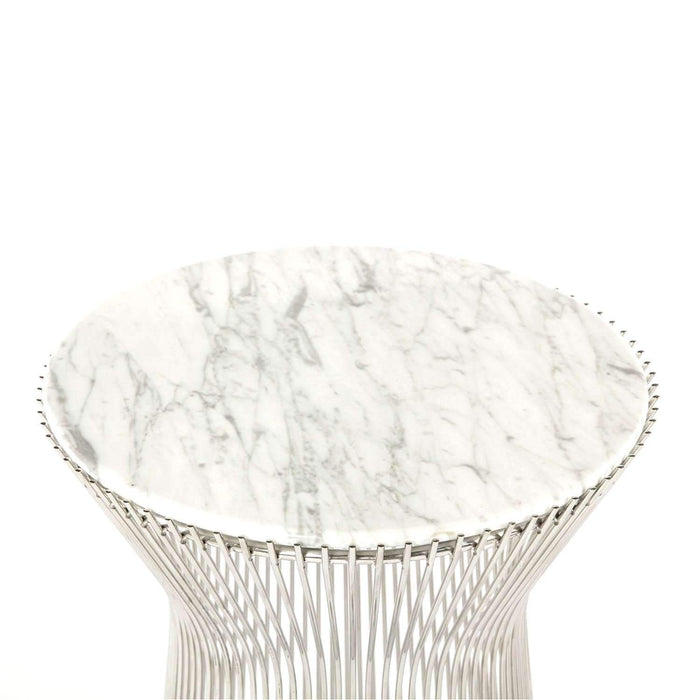 Carrara Marble Platner Side Table