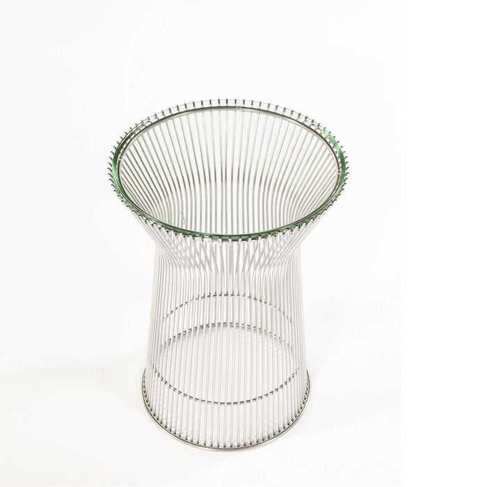 Mid Century Platner Glass Side Table