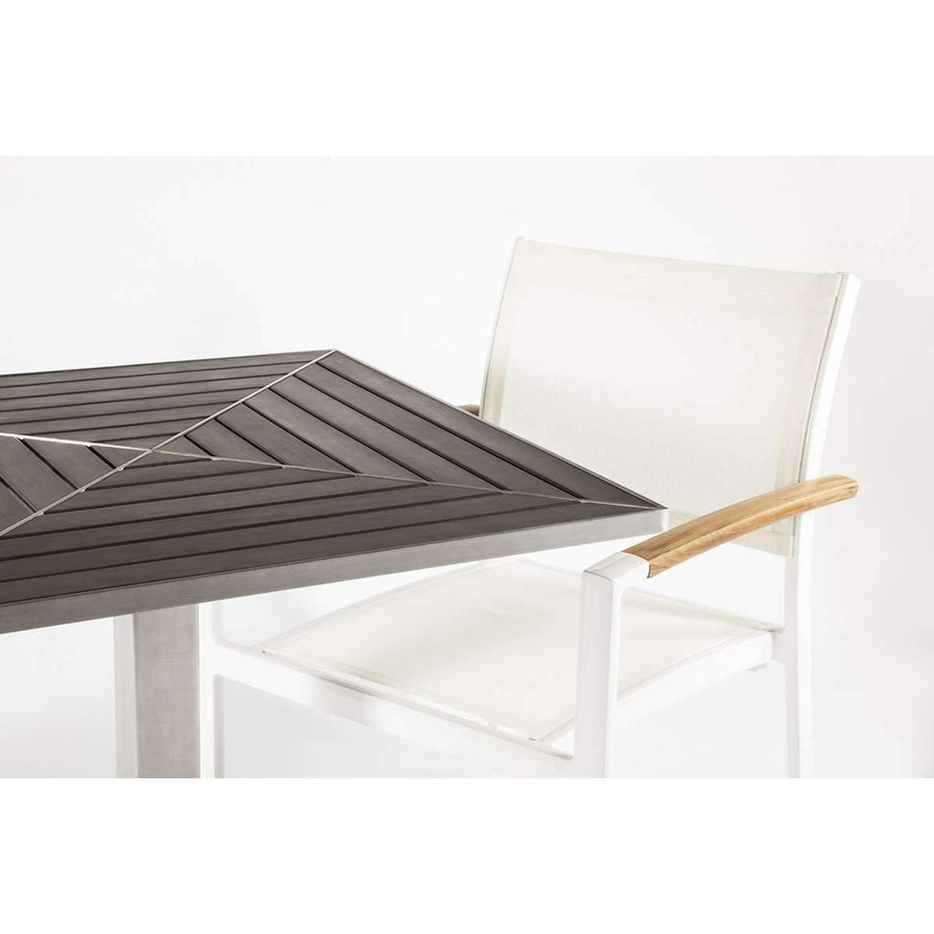 Modern Stainless Steel Lucina Dining Table