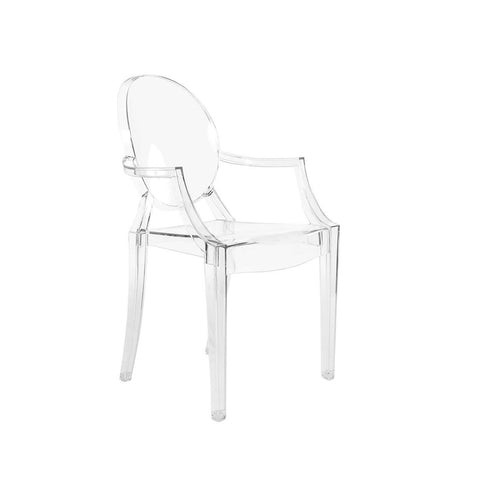 4 x Louis Ghost Chair - Transparent Acrylic Dining Arm Chair **Free Local Shipping Only**