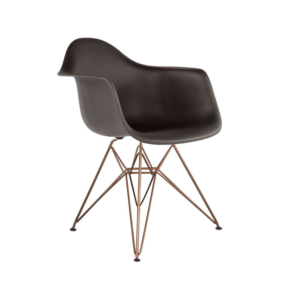 DAW Molded Plastic Armchair - Matte Gold Metal Legs *PICK UP ONLY*